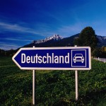 Sign Pointing the Way to Germany
