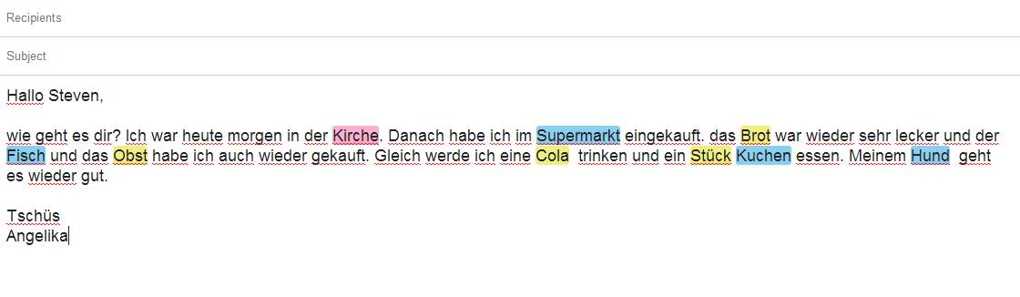 how to say email in german