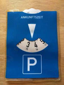 How to use a German parking disc