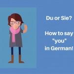 Du or Sie-