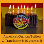 Angelika's German Tuition & Translation is 10 years old!