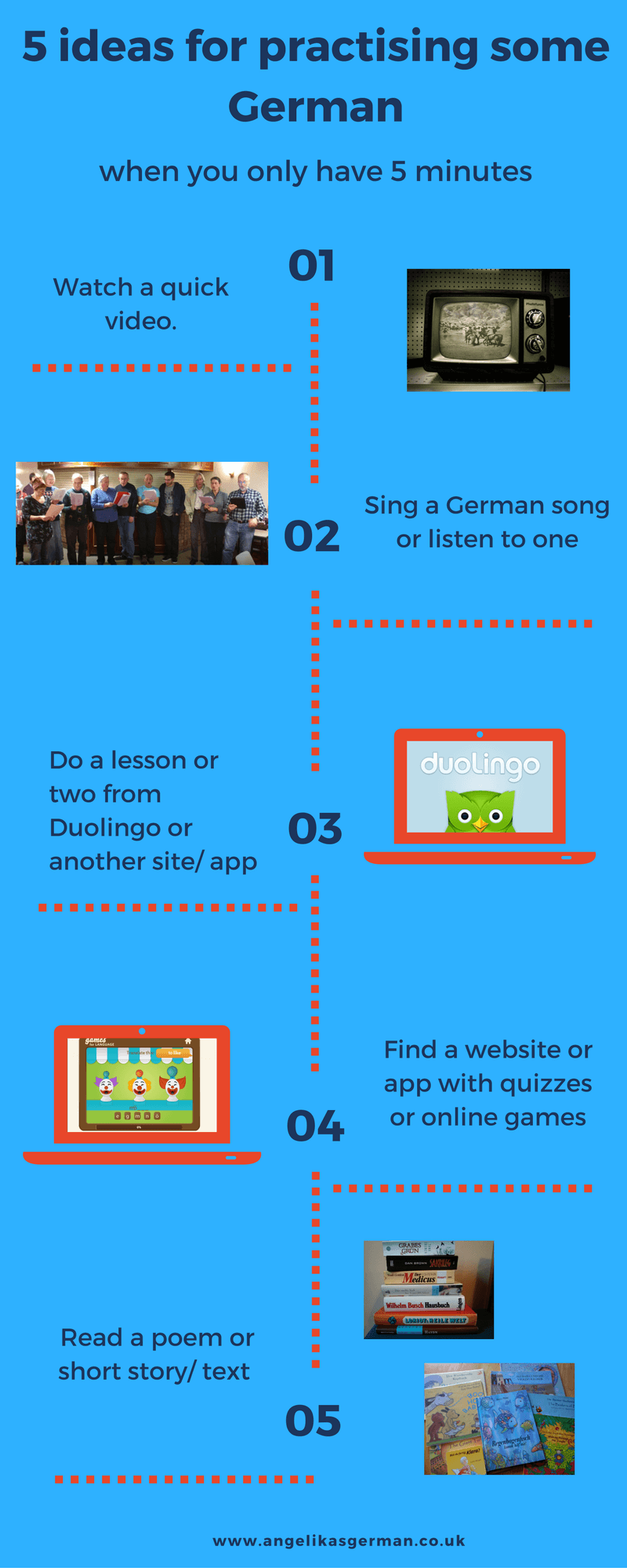 How to learn German when you only have 5 minutes
