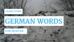 The seasons in German - Winter