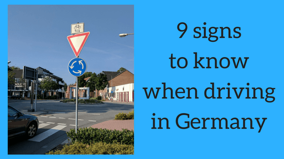 9 signs to know when driving in Germany