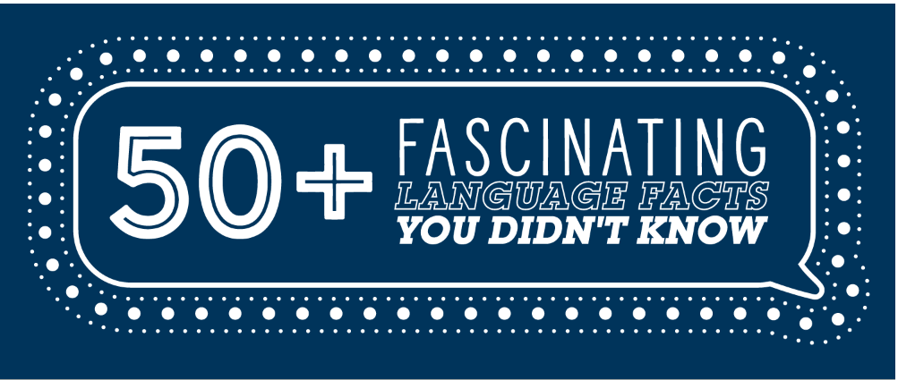 50+ fascinating language facts - an infographic