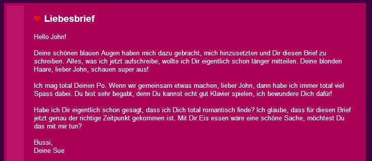 my love in german masculine