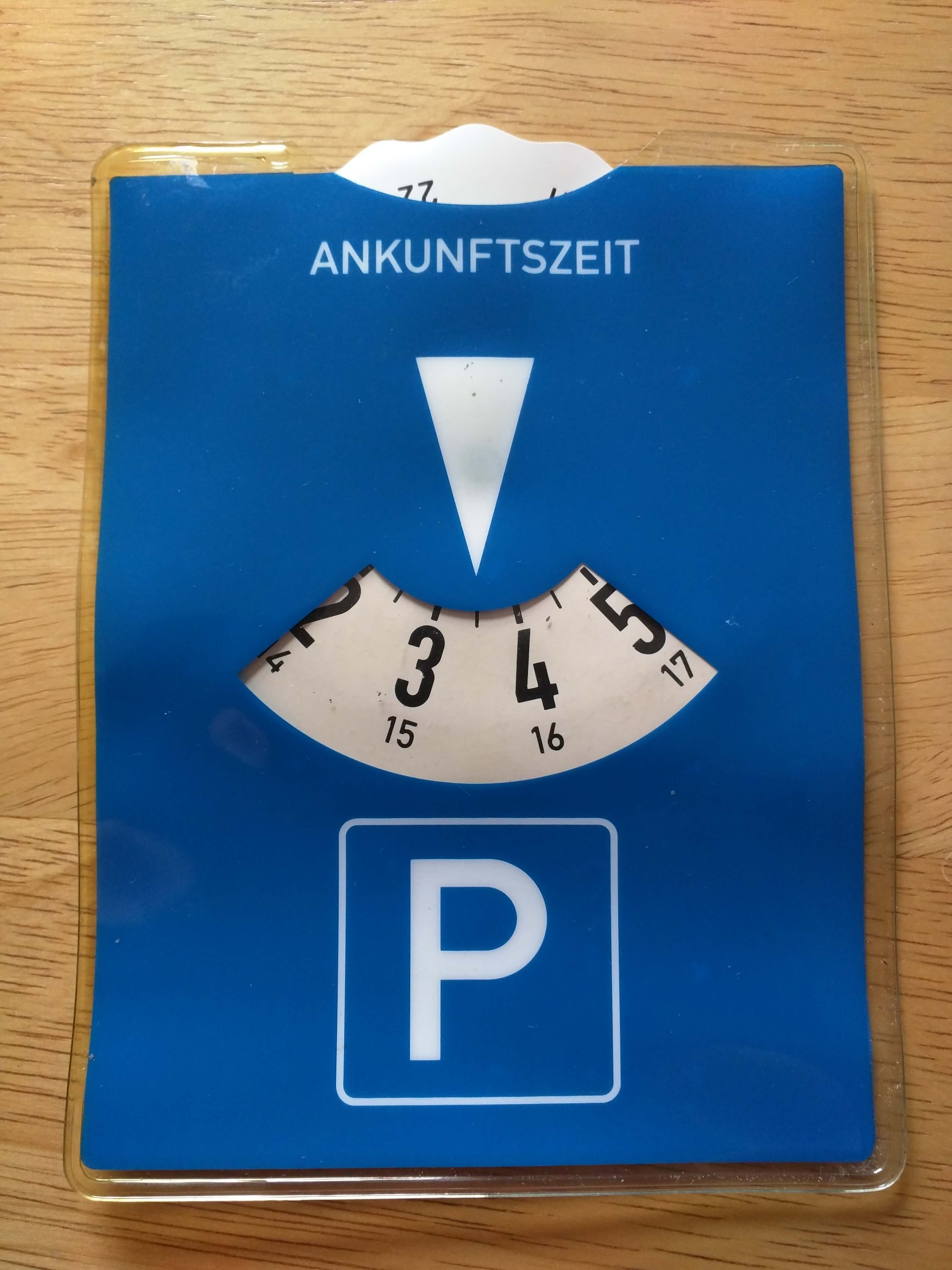 How to use a German parking disc - Angelika's German Tuition