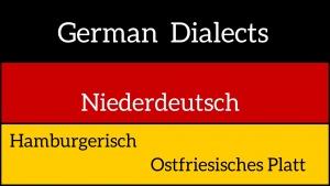 German dialects - Hamburgerisch and Ostfriesisch