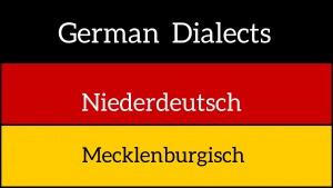 German dialects - Mecklenburgisch