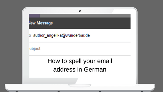 How to spell your email address in German