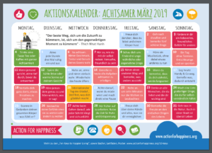 Learn German and spread some mindfulness in March