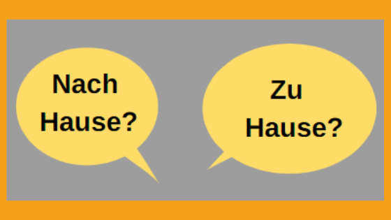 Help, I don't know when to use zu Hause or nach Hause!