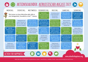 Learn German during an Altruistic August