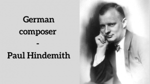 German composers: Paul Hindemith